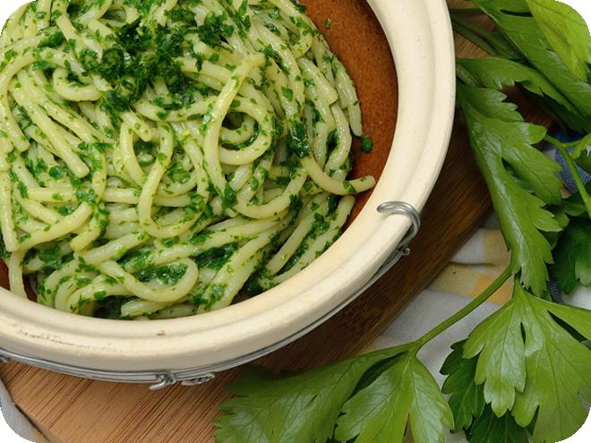 Spaghetti con la Colatura di alici di Cetara