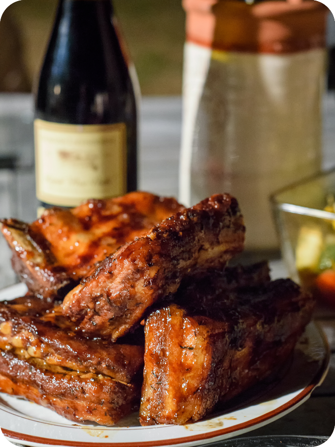 Travers de porc - BBQ RIBS