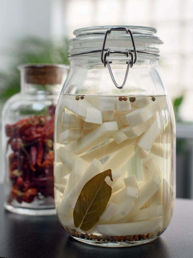 Légumes-racines en condiment