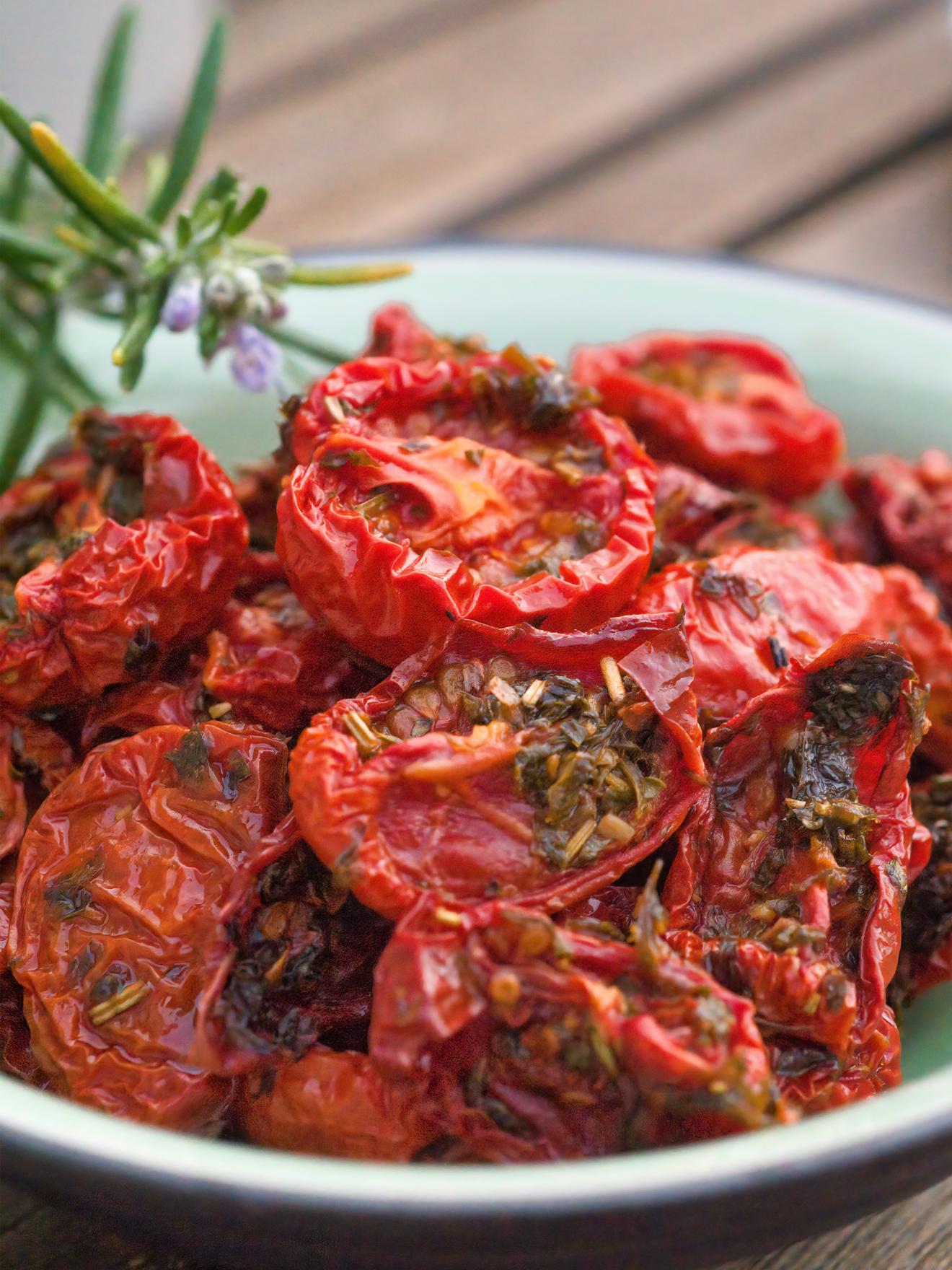 tomates cerise séchées